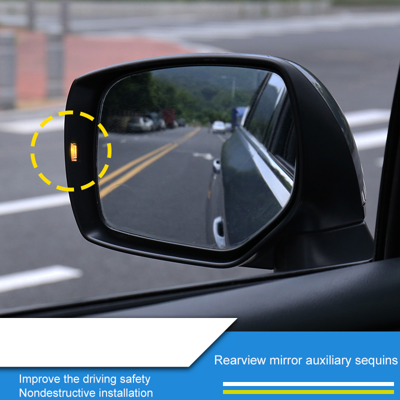 QHCP PC Material Rearview Mirror Steering Turn Light Lamp Assist Auxiliary Sequins Sticker For Subaru Forester Outback Legacy XV
