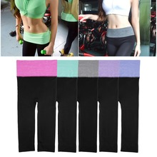 HWYHX 2016 NEW arrival  Women High Waist Running Tights YOGA Pants Sports Leggings Slim Fitness Pants