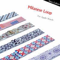 Milanese schleife strap Für Apple uhr band 42mm 38 mm iWatch 4 Band 44mm 40mm Edelstahl correa armband Apple uhr 5 4 3 2
