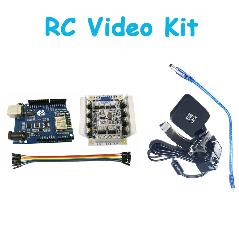 Original Video Controller Kit for Robot Arm Tank/Car Chassis Remote Control Kit by ESPduino with openwrt Router Camera wifi mini rc camera tank car ispy with video 0 3mp camera 777 270 remote control robot with 4ch suppots by iphone android app