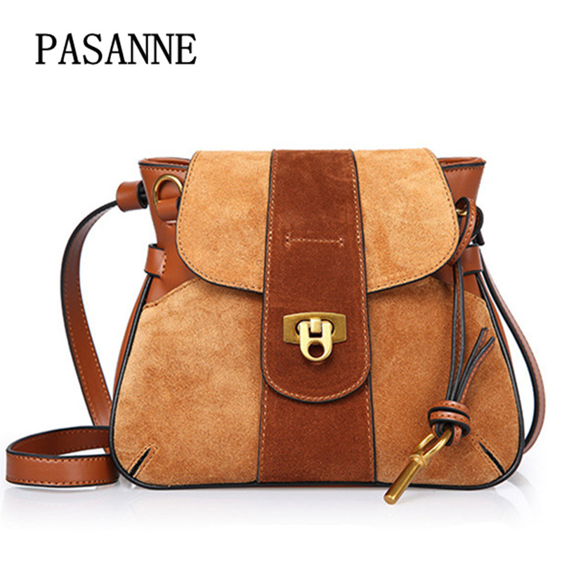 New Women Shoulder Bag Saddle Handbag Luxury 2017 Fashion Vintage Lady Casual Handbags Genuine Leather Woman Crossbody Bags 2017 new arrival designer women leather handbags vintage saddle bag real genuine leather bag for women brand tote bag with rivet