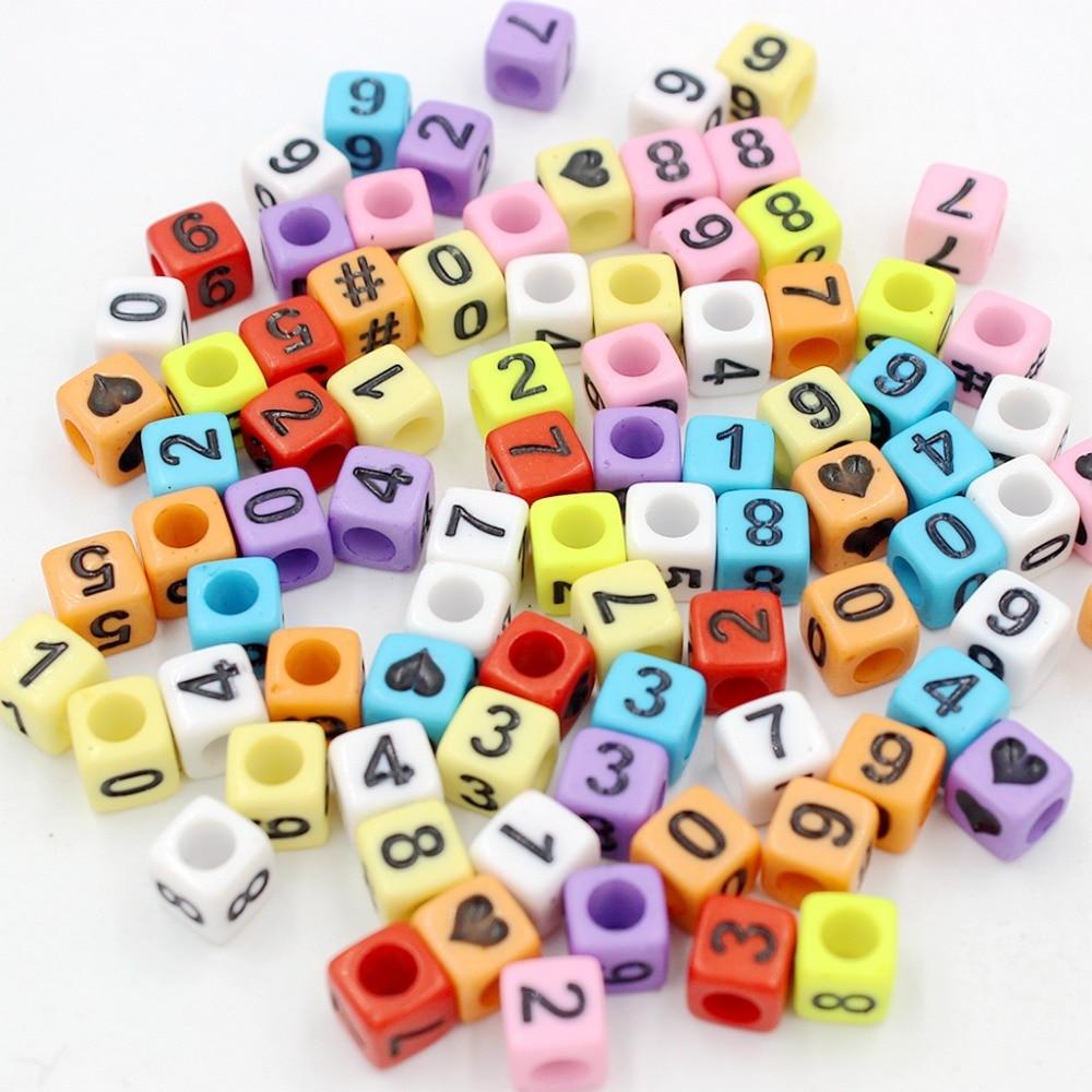 Бесплатная доставка мм 6 шт./лот квадратный/круглый смешанные Acyrlic письмо/кубик алфавита бусины
