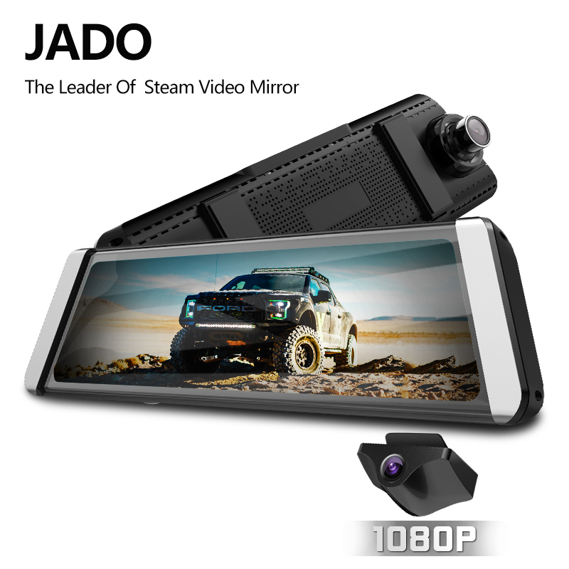 JADO D800s X7 Dash cam Stream Rearview Mirror LDWS GPS Track 10 IPS Touch Screen Full