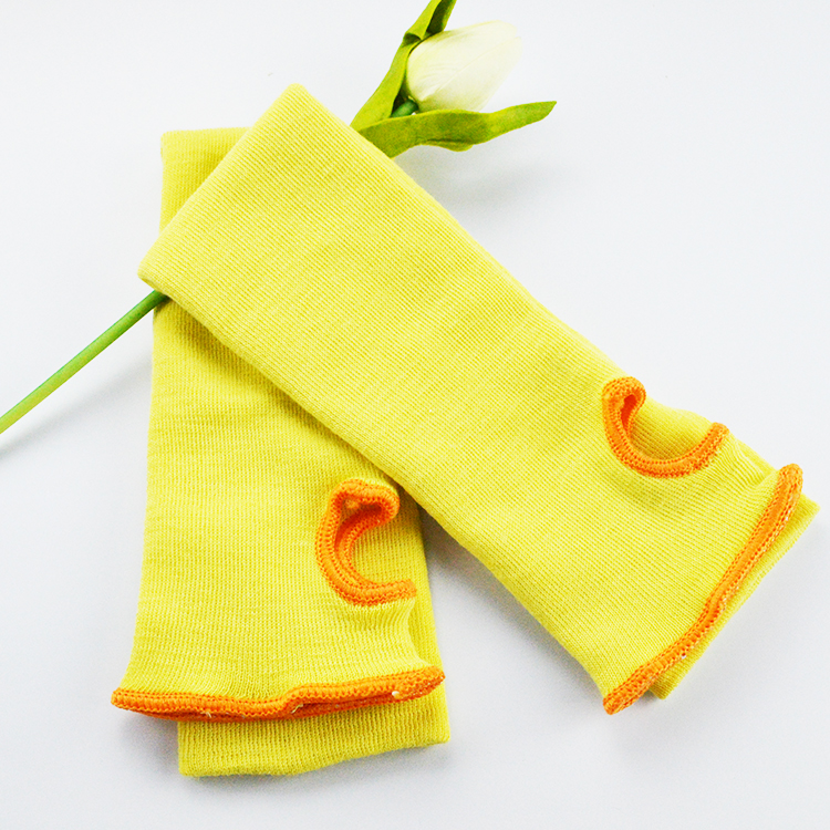 High performance Yellow Regular Weight Kevlar Cut Resistant Sleeve.