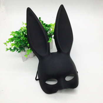 Mark Black Women Girl Sexy Rabbit Ears Mask Cute Bunny Long Ears Bondage Mask Halloween Masquerade Party Cosplay Costume Props 1