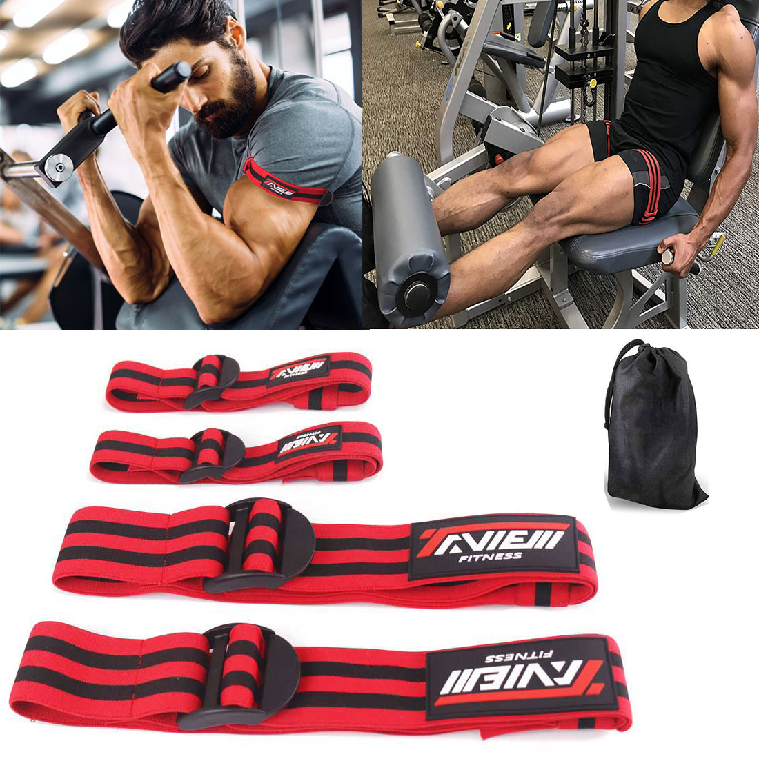 Fitness Occlusion Training Bands Bodybuilding Weightlifting Blood Flow Restriction Bands Arm Leg Wraps Muscle Train Gym Equipmen