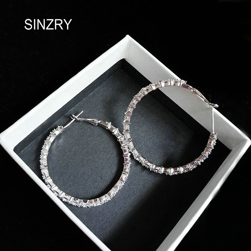 559f5d778 Detail Feedback Questions about Sinzry Party jewelry accessory cubic  zirconia flash big circle drop earrings trendy CZ exaggerated simple  earrings on ...