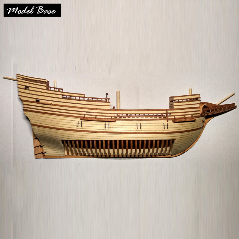 Wooden Ship <font><b>Models</b></font> Kits Educational Children Games Diy Kit <font><b>Model</b></font> 3d Wood <font><b>Boats</b></font> Laser Cut 1 /96 Half <font><b>Hull</b></font> <font><b>Model</b></font> Ship kit Kids Toy image