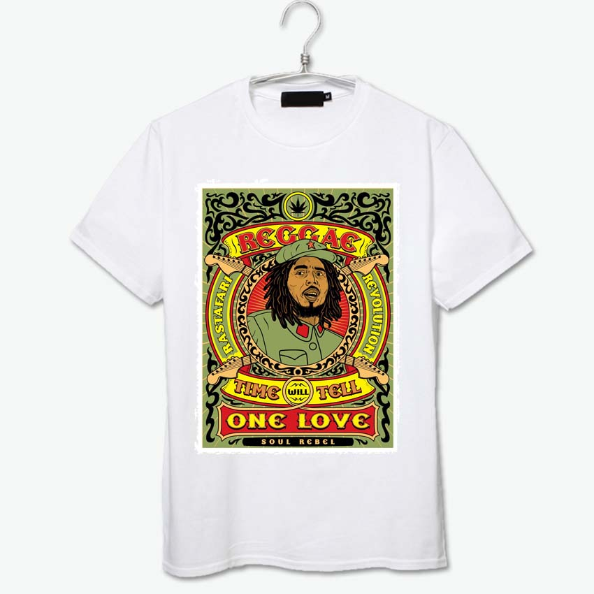 one world one love reggae peace music culture t shirt high quality cotton tops clothes summer cool vintage heritage fashion