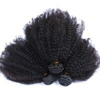 Монгольский афро кудрявый вьющиеся волосы расслоения Мёд queen Hair продукты 3 шт. человека Инструменты для завивки волос ни Волосы remy расширени