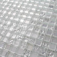 Pure silver glass mosaic Bisazaa tile for kitchen backsplash A5TC 1309