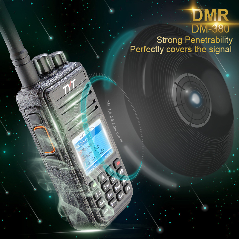 DMR Digital TYT MD380 Walkie Talkie 1000 Saluran UHF MD-380 Dua Arah Radio + Pengaturcaraan Kabel + CD