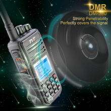 DMR Digital TYT MD380 Walkie Talkie 1000 Channels VHF or UHF Tytera MD-380 Two Way Radio + Programming Cable + CD