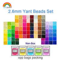 Yantjouet Kit de perles 2.6mm 24 48 72 couleur/ensemble pour enfant Hama perles Perler perles bricolage Puzzles de haute qualité fait main cadeau enfants jouet