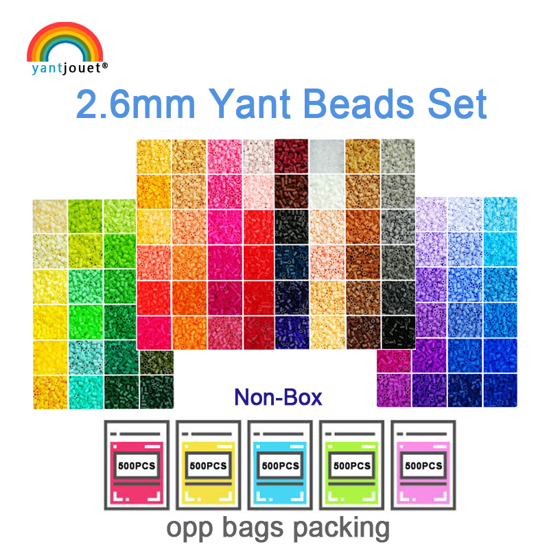 Yantjouet 2.6mm Beads Kit 24 48 72 Color/set For Kid Hama Beads Perler Beads Diy Puzzles High Quality Handmade Gift Children Toy