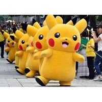 2017 hoogwaardige deluxe pikachu mascotte kostuum cartoon kostuums mascotte kostuum fancy dress party pak