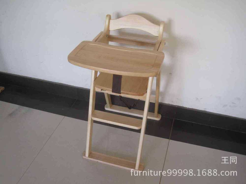 children s folding wooden high chair factory direct export to japan