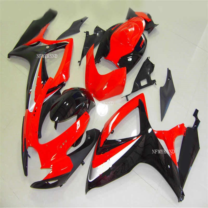 Nn-<font><b>fairing</b></font> <font><b>kit</b></font> fit for SUZUKI mold <font><b>GSXR</b></font> <font><b>600</b></font> 750 K6 K7 2006 2007 Red black <font><b>fairings</b></font> set GSXR600 GSXR750 06 <font><b>07</b></font> image