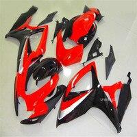 Nn fairing kit fit for SUZUKI mold GSXR 600 750 K6 K7 2006 2007 Red black fairings set GSXR600 GSXR750 06 07