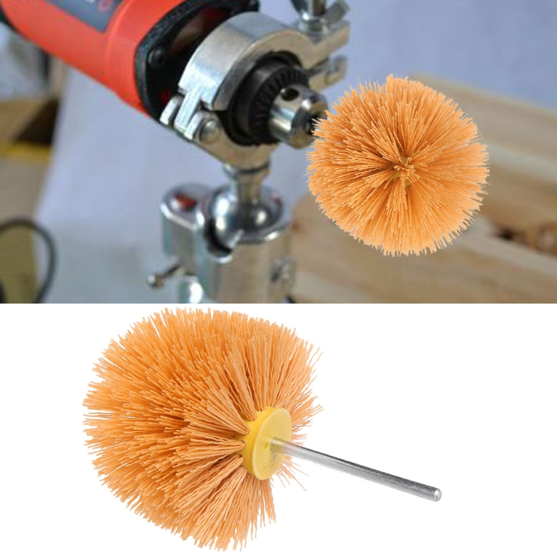 цена на Deburring Abrasive Steel Wire Brush Polishing Grinding Buffing Mushroom Shank LS'D Tool