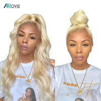 Long Lace Front Human Hair Wigs BLonde Body Wave Bundles Allove 13X4 Brazilian Lace Wigs Pre Plucked Frontal Remy Wigs For Women