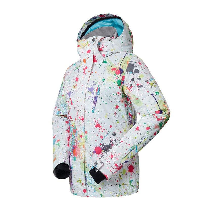 GSOU neige dame hiver Ski costume coupe-vent imperméable respirant chaud veste de Ski neige vêtements pour les femmes taille XS-XL - 5