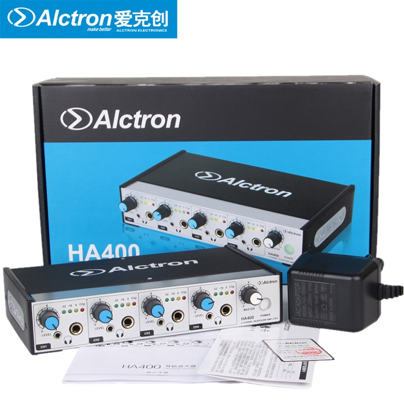 Alctron HA400 Professional 4 Channel Headphone Amplifier For Stage , Church, Studio