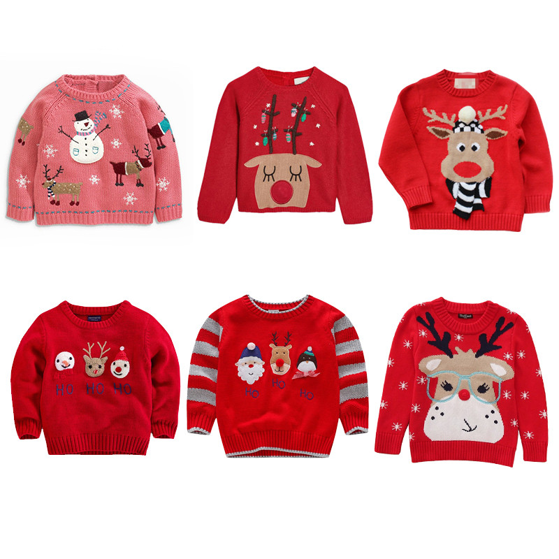 Girls Clothes Christmas Baby Boy Sweater Kids Sweaters 2018 Bobo Choses Winter Autumn Knitted Sweater Girl 95%Cotton Tops bbk pre sale tao 2018 autumn kids clothes boys pullover knitted sweater cotton winter tops strap pattern baby girls sweaters c