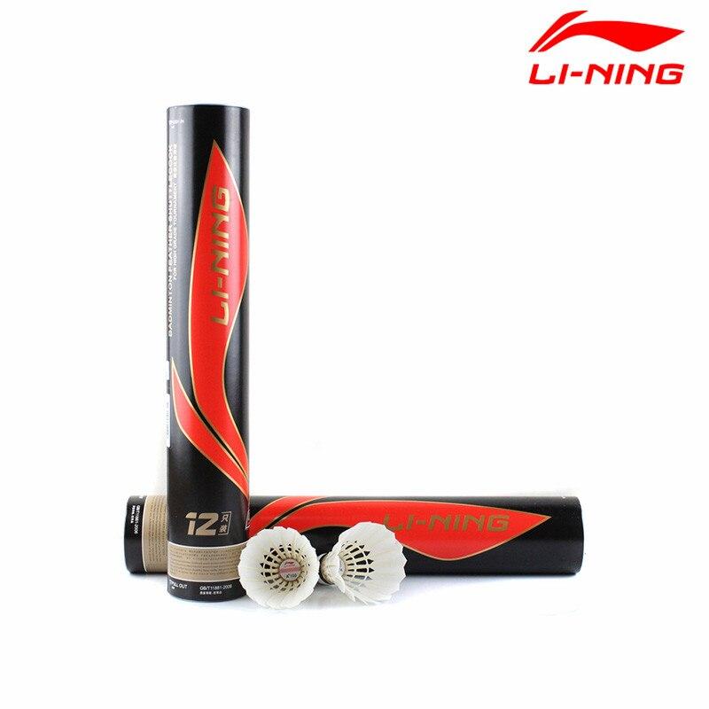 2 Dozen/lot Li-Ning Badminton Shuttlecock A+100 Lining Goose Feather Ball for Tournament Level Li Ning Birdie Battledore L659OLB стоимость