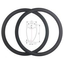 超軽量 700C 380 グラム 42 ミリメートル非対称クリンチャーチューブレス準備道路カーボンリム holeless ディスクホイールテープレスバルブ穴のみ