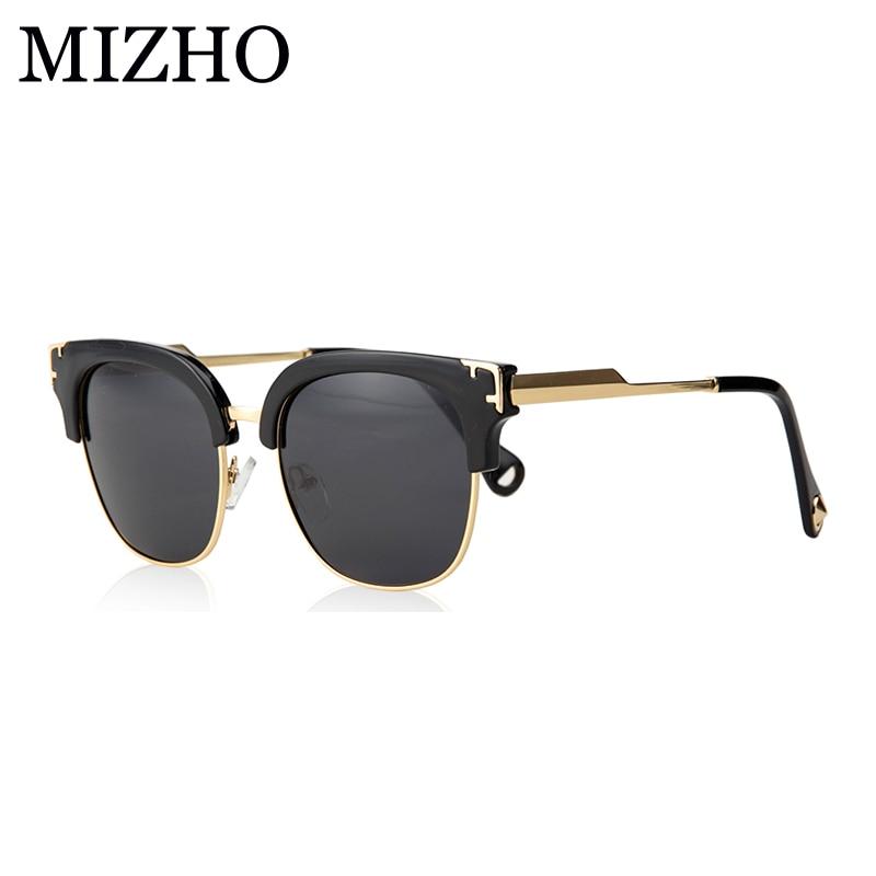 MIZHO Vidrio de Ouro Original de Luxo Senhoras Escudo Óculos De Sol  Mulheres Polarizada HD UV400 3e61fcac67