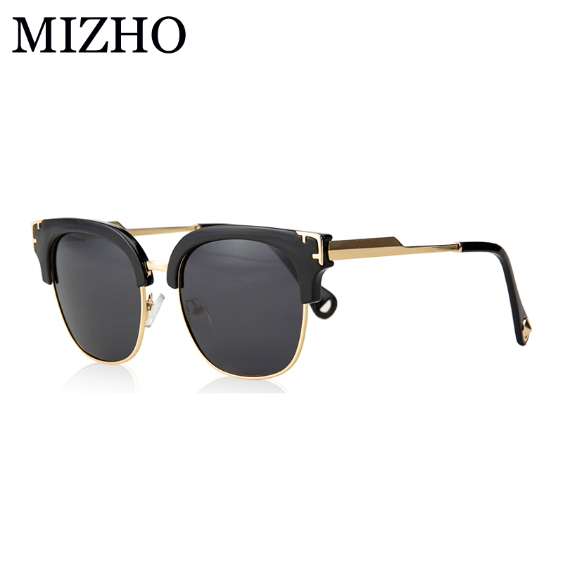 0a09821836 MIZHO Gold Vidrio Original Luxury Ladies Shield Sunglasses Women Polarized  Vintage Fashion HD UV400 Oculos De So High Quality-in Sunglasses from  Apparel ...
