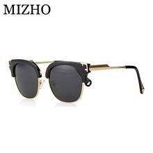 MIZHO Gold Vidrio Original Luxury Ladies Shield Sunglasses W