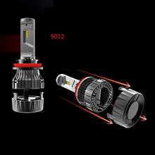 2pcs 9012 MINI LED Blade Car Headlight Fog Lamp High Beam Import Power Bead 30W 6000K 5000LM 9-30V IP68 2Pcs
