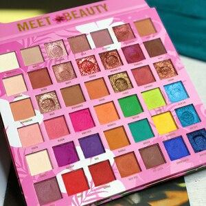 Image 3 - Palette de fards à paupières pigmentés, longue tenue, Palette de fard à paupières pigmentée, effet mat, beauté, Palette de maquillage