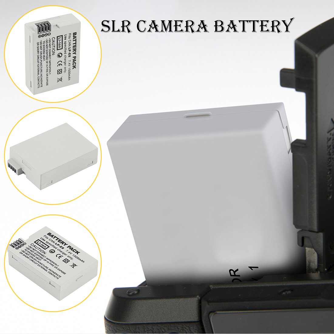 LP-E8 LPE8 1500mah Camera Rechargeable <font><b>Battery</b></font> <font><b>Batteries</b></font> For <font><b>Canon</b></font> <font><b>550D</b></font> 600D 650D 700D X4 X5 X6i X7i T2i T3i T4i T5i DSLR Camera image