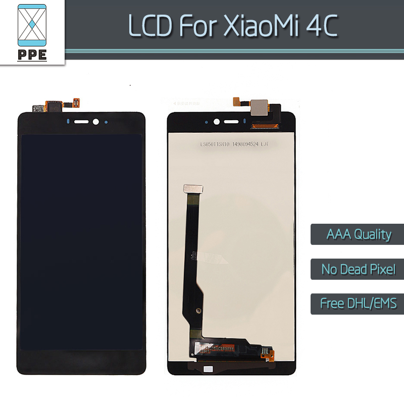 Подробнее о For Xiaomi 4C Mi4C M4C LCD display with Touch screen Digitizer Assembly Replacement Mi 4C LCD AAA No dead pixel 5 inch black lcd display touch screen digitizer assembly for xiaomi mi4c mi 4c m4c replacement parts