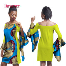 2019 Autumn african dresses for women Dashiki Casual  club dress African Dresses Traditional Print Mini Womens Dress WY1789