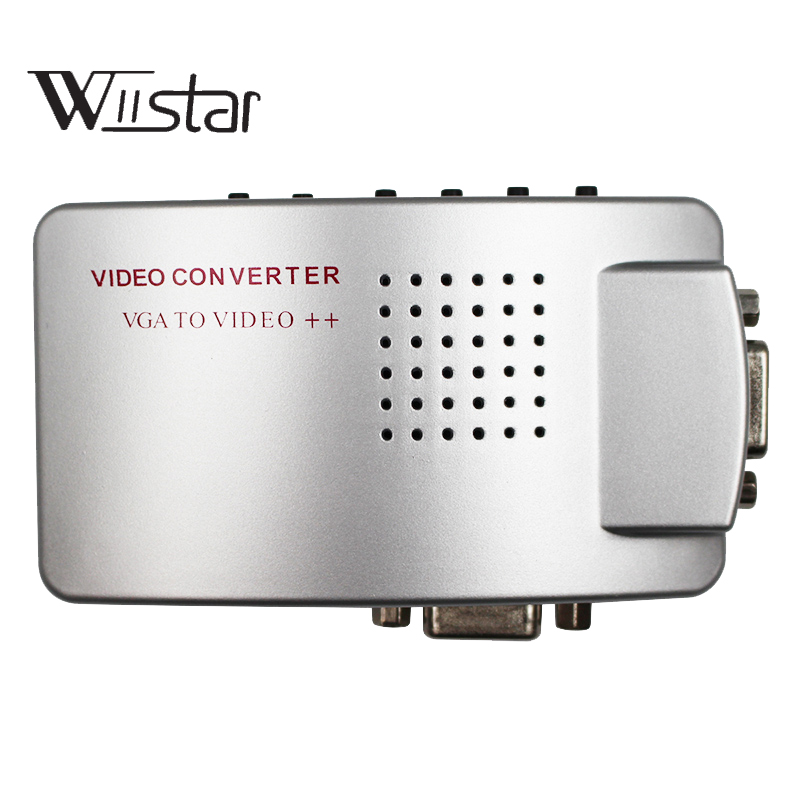 Computador portátil vga para tv av rca adaptador de vídeo composto conversor caixa de interruptor suporte s-vídeo rgb ntsc/pal sinal de computador