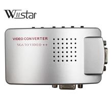 VGA to RCA 어댑터, 컴포지트 AV S 비디오 VGA 컨버터, HDTV, 모니터, 노트북, 데스크탑, PC 용 TV 비디오 스위치 박스 PC