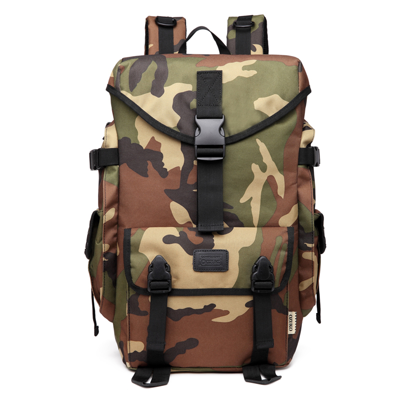 OZUKO 2018 Newest 15.6 Inch Laptop Backpack Camouflage Waterproof Travel Backpack Bags for Teenagers Casual Student School Bags ozuko brand men travel backpack 2018 new style casual school bag for teenagers 14 15 inch laptop masculina shoulder bags mochila