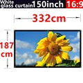 2016 new aarive 150 Inches 16:9 White glass curtain Projector Screen Suitable for HD 3D LED Smart Movie home theater Projector
