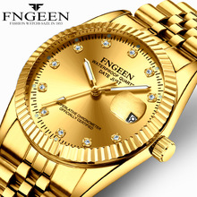 couple watch FNGEEN brand mens womens watches quartz steel w