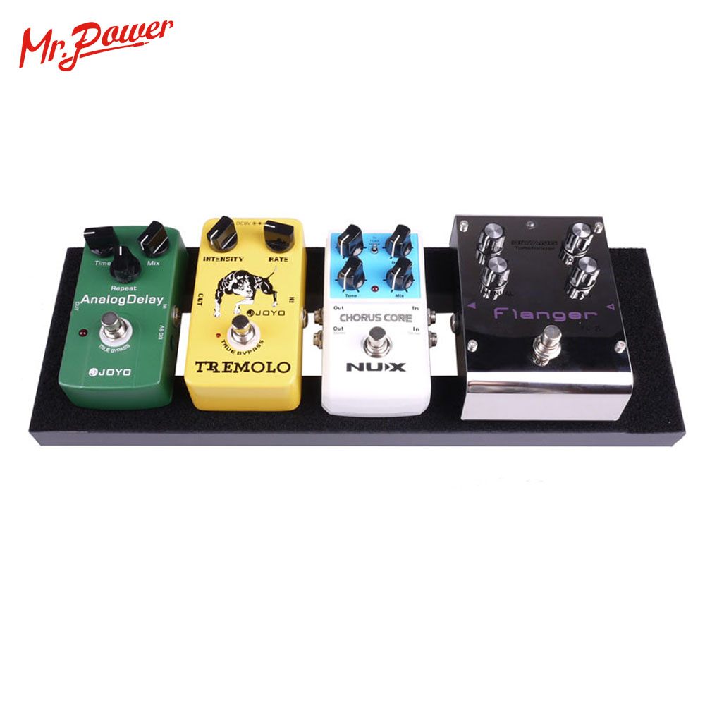 Guitar Effect Pedalboard Setup 40X13 CM DIY Make By Aluminium Alloy 15 7 x5 1 MINI