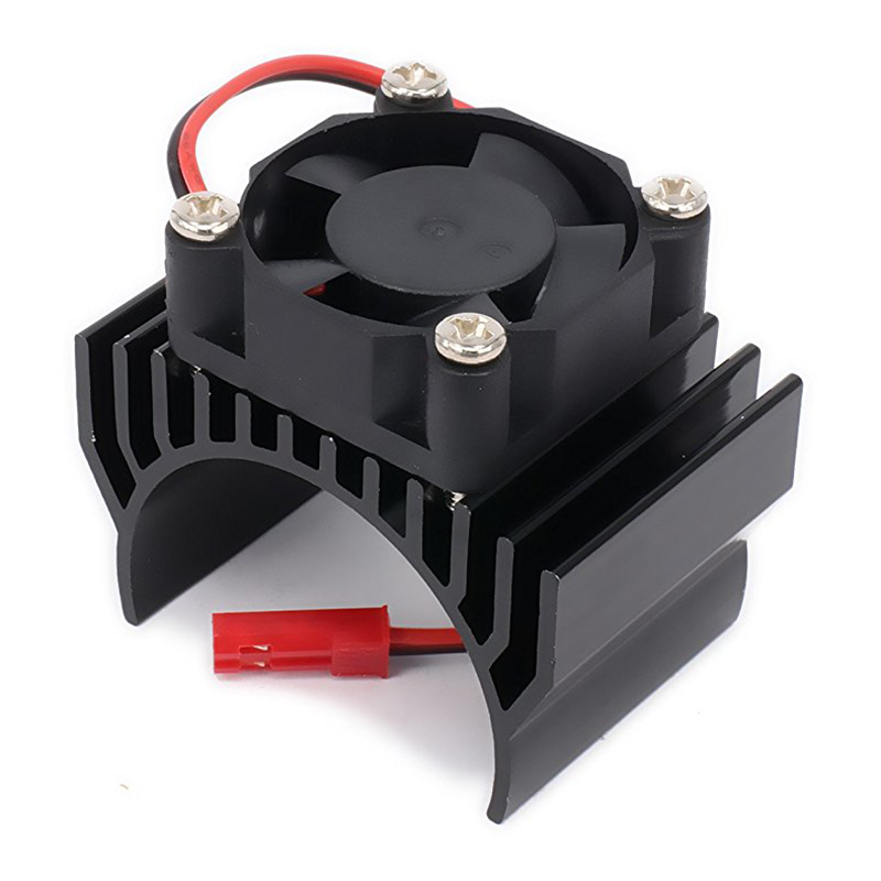 New Heatsink Motor 540 550 with Fan Cooling Head Vent Top 6v JST Alloy Aluminum for 1/10 RC Hobby Model Car 1Pcs abs case with cooling fan heatsink removable top cover