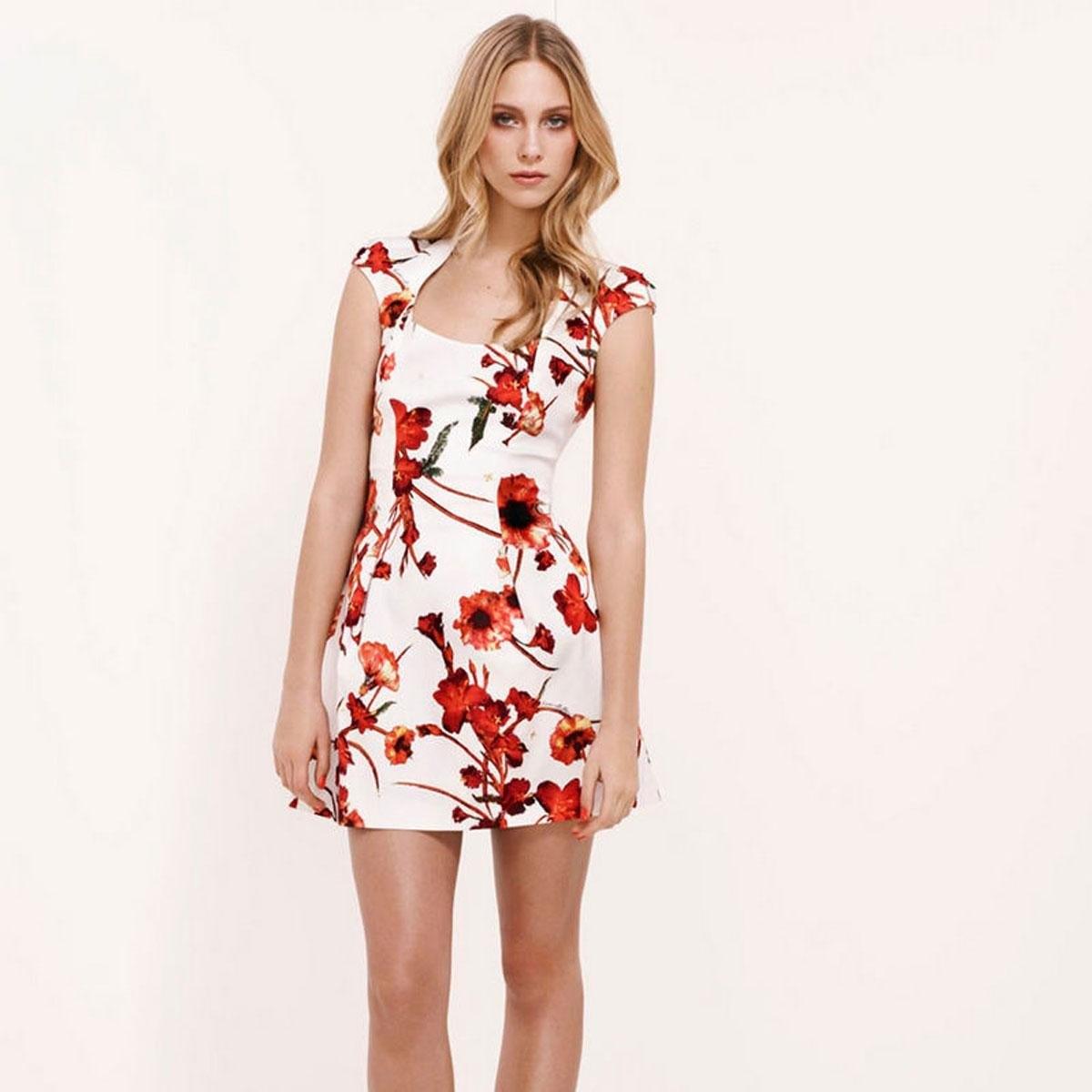 Floral Party Dress - Ocodea.com