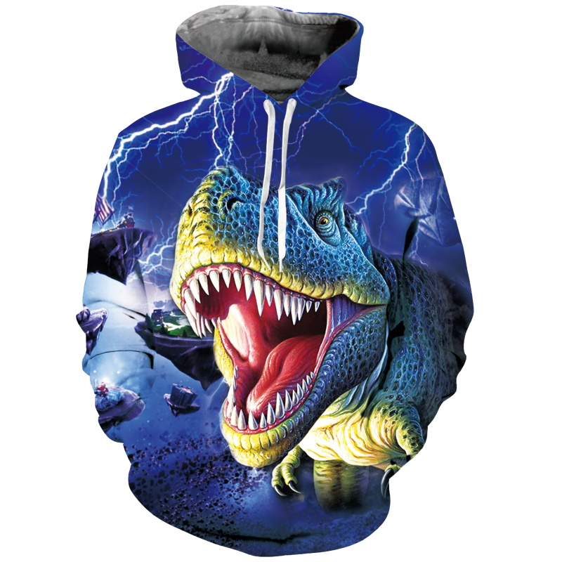Men's Clothing New Fashion Dinosaur Lion Tiger Alpaca Sloth Galaxy Men Hoodies Sweatshirts 3d Print Sweatshirts Cap Tops Men Hooded Nebula Jacket Dropship