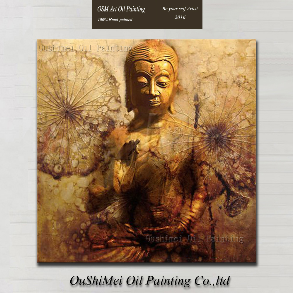 Professional Artist Hand painted High Quality Indian Buddha Oil Painting On  Canvas Modern Buddha Sit In Meditation Oil Paintings