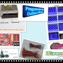 free shipping DIY LED moving sign Electronic kits with 10pcs