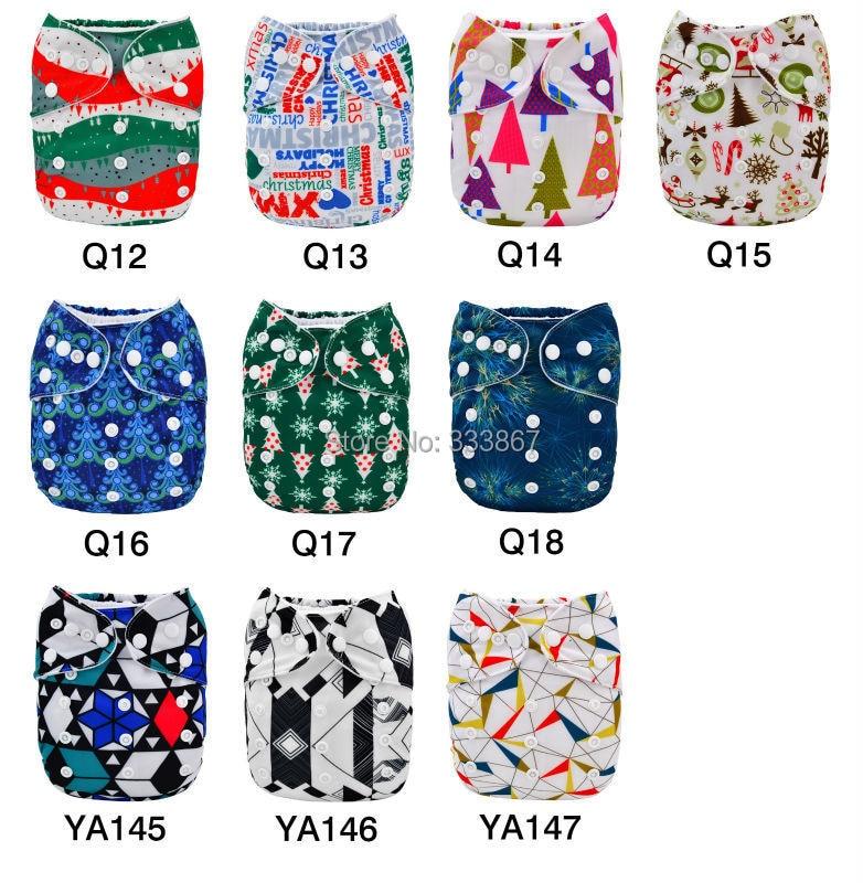 1 New Design Christmas Gift Baby Pocket Cloth Diaper,1 Diaper +1 ...